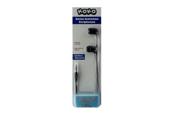 KoKo Noise-Isolation High Definition Earphones (No Microphone) - Black / Gold
