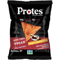 PROTES Vegan Baked Protein Chips | 15G of Protein, 120 Calories & Made with Pea Protein | NON GMO & Gluten Free | 1 Bag (4 oz.) | (Tangy Southern BBQ)