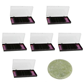 Homyl Professional Eyelash Trays False Eyelash Extensions 9mm,10mm,11mm, 12mm, 13mm,14mm Single Lashes