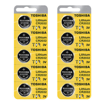 Toshiba CR2032 3 Volt Lithium Coin Battery (10 pcs)