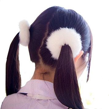 cuhair 2pcs Wool Ponytail Holder Elastic Hair Tie Hair Band Hair Rope Hair Rubber Hair Accessories For Kids Girl