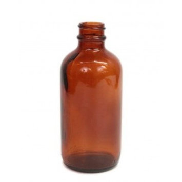 Perfume Studio 4oz Amber Glass Bottles - Set of 2 Amber Glass Bottles with a 24/410 Neck Finish, No Tops (Free Oil Sample Vial Included)