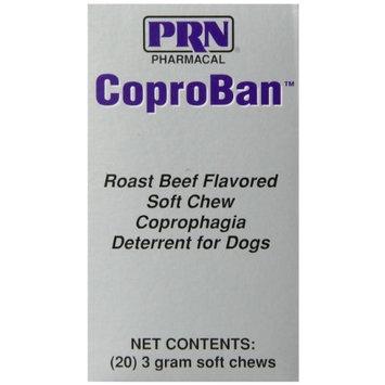 PRN Pharmacal Inc 20-Piece CoproBan Anti-Coprophagia Chew Tabs, Roast Beef Flavor