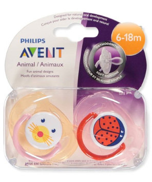 Philips Avent 2-Pack Orthodontic Animal Pacifiers - pink, one size