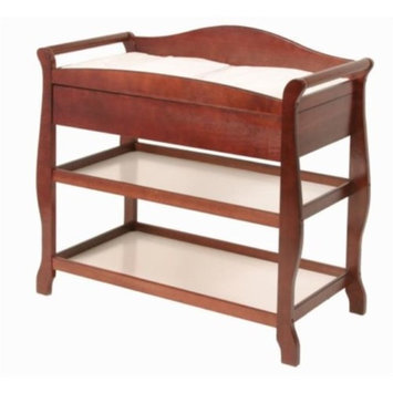 La Baby Sleigh Style Changing Table with Drawer Cherry