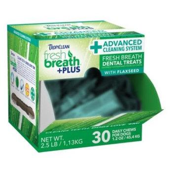 Tropiclean Fresh Breath Plus Dog Dental Treats 1.2 Ounce-30 Pc Advanced Clean 001756