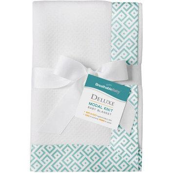 BreathableBaby(R) Deluxe Modal Knit Baby Blanket - Diamond Seafoam