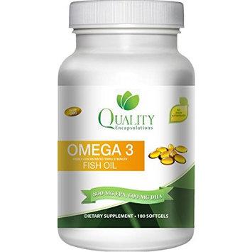 Omega 3 Fish Oil **%100 Pure** Burpless ** Triple Strength, Natural Lamon flavord, Non-GMO, 60 gelcaps [180]