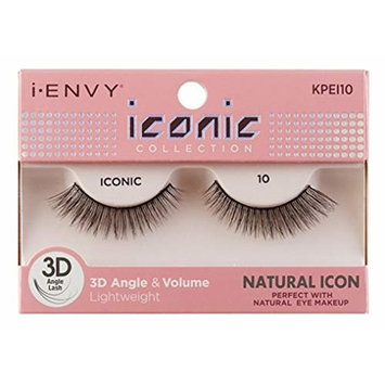 Kiss I Envy Iconic Collection Lashes #10 3D Angle & Volume (Natural) (2 Pack)