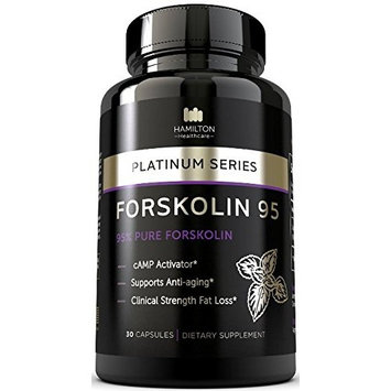 95% FORSKOLIN Amazing cAMP Activator - The Most Potent Supplement Available for Clinical Fat Loss and Anti Aging - 100% Natural and Unique Formula - Platinum Series By Hamilton Healthcare [30]