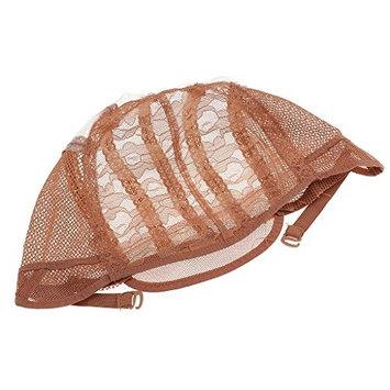 Homyl Soft Comfort Wig Making Base Inner Cap Adjustable Weave Breathable Weaving Lace Net Cap with Straps - Brown, Black, Beige - Brown