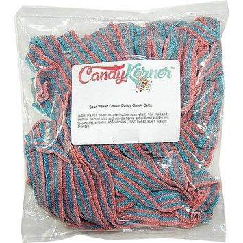 SourPower Sour Belts Cotton Candy 1 Pound (16 OZ)