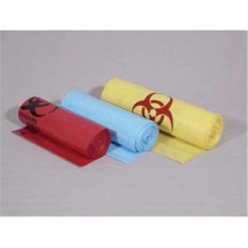 Bunzl Distribution BUN 61601048 40 x 48 in. 40-45 gal Yellow Infectious Liner Box of 10 - 10 Box per Case