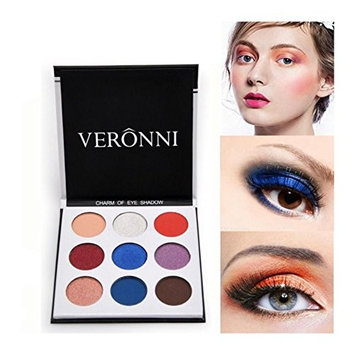 VERONNI Holiday Eyeshadow Palette,9 Colors Eye Shadow Shimmer Matte Pigment Long Lasting Eye Makeup Palette (Holiday)