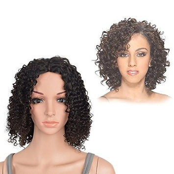 Dingli Hair Short Curly Lace Front Wigs Brazilian Virgin Wigs For Black Woman 12 Inch Natural color 130% Density