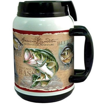 American Expedition Freshwater Fish 64-oz. Wildlife Collage Thermal Mug TM64151