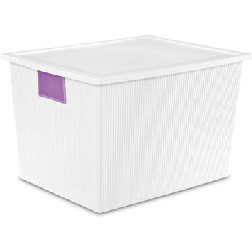 Sterilite Corporation Sterilite 50 Quart ID Box- White, (Available in Case of 4 or Single Unit)