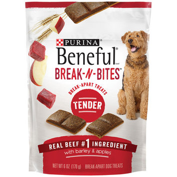 Purina Beneful Break-N-Bites Tender Real Beef With Barley & Apples Dog Treats - (5) 6 oz. Pouches