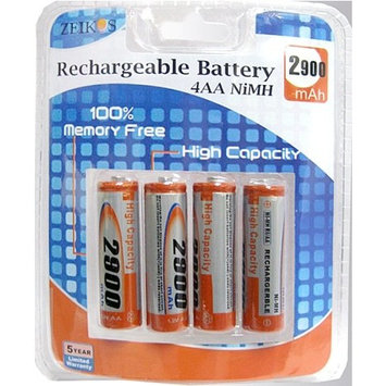 Zeikos ZE-4AA Rechargeable AA 2900mAh Batteries (pack of 4) (Discontinued by Manufacturer)