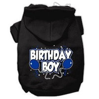 Mirage Pet Products Birthday Boy Screen Print Pet Hoodies Black Size Lg (14)