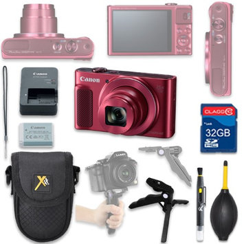 Als Variety Canon PowerShot SX620 HS Digital Camera(red) with 32GB SD Memory Card + Accessory Bundle