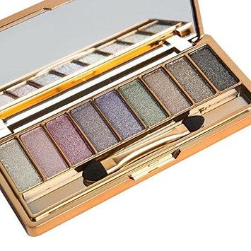 Eyeshadow,Baomabao 9 Colors Shimmer Eyeshadow Palette & Makeup Cosmetic Brush Set