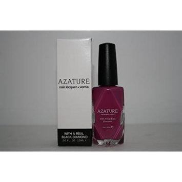 AZATURE Black Nail Lacquer Polish, Lavender Diamond, 0.5 Fluid Ounce