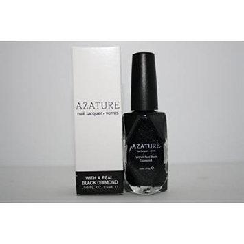 AZATURE Black Nail Lacquer Polish, Boudoir Diamond, 0.5 Fluid Ounce