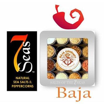 The BAJA TIN -Custom Embossed Sea Salt Sampler TIN - Capturing the Soul & Sizzle of the Mexican Cuisine