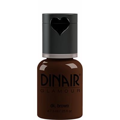 Dinair Airbrush Makeup Foundation | Dark Brown | GLAMOUR: Natural, Light coverage, Matte 1/4oz