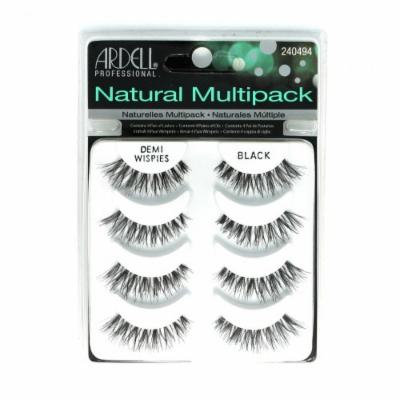 (6 Pack) ARDELL Professional Natural Multipack - Demi Wispies Black