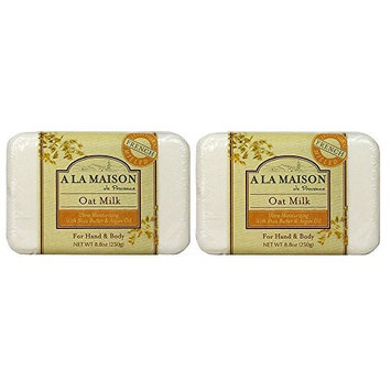 A La Maison de Provence Oat Milk Hand and Body Soap (Pack of 2) With Shea Butter, Argan Oil and Coconut Oil, 8.8 oz Each