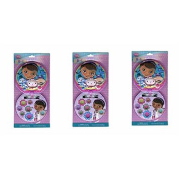 Doc Mcstuffins Lip Gloss Compact Round Case X 3 Set