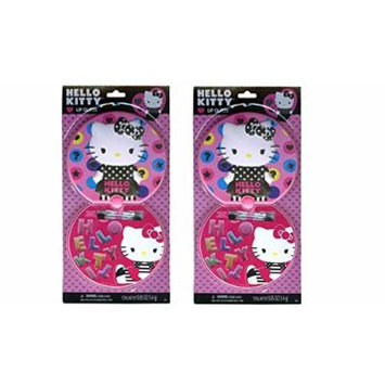 Hello Kitty Lip Gloss Compact Round Tin x 2 Set