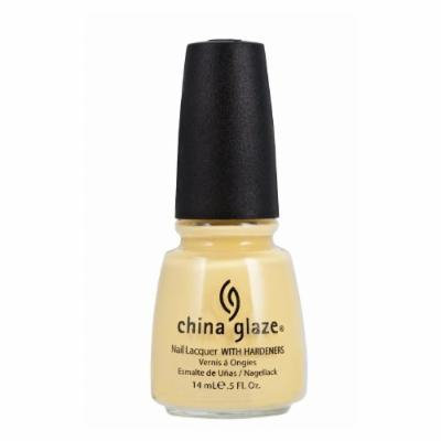 (3 Pack) CHINA GLAZE Nail Lacquer with Nail Hardner - Lemon Fizz