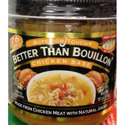 2 x 16oz Better Than Bouillon CHICKEN BASE Superior Touch Broth Made from Chicken Meat with Natural Juices (2 Pounds Total)