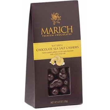 Marich Gable Cashew Sea Salt Dark Chocolate 4.5oz (6-pack)