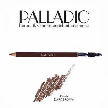 3 Pack Palladio Beauty Eyebrow Pencil 02 Dark Brown
