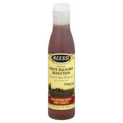 Alessi White Balsamic Reduction Raspberry Infused, 8.5-ounce Bottles (Pack of 6)