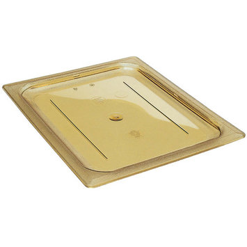 Cambro 1/2 GN High Heat Flat Lid, 6PK, Amber, 20HPC-150