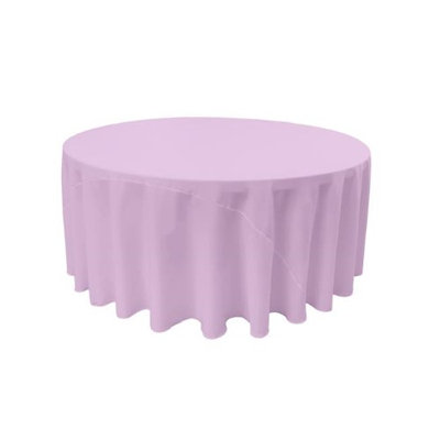 LA Linen TCpop132R-LilacP45 Polyester Poplin Tablecloth Lilac - 132 in. Round