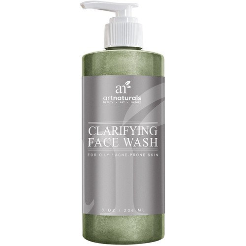ArtNaturals Clarifying Acne Face Wash Deep Cleansing and Exfoliation of Acne, Blackheads and Pimples Infused with Cucumber and Aloe for Added Hydration, 8 oz.