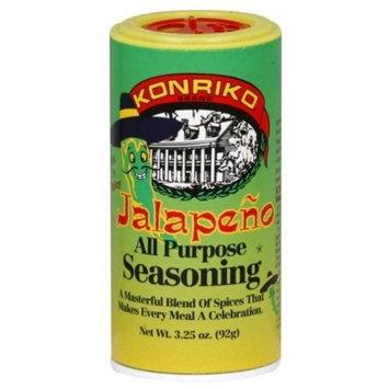 Konriko Jalapeno All Purpose Seasoning 3.25oz Canister (Individual)