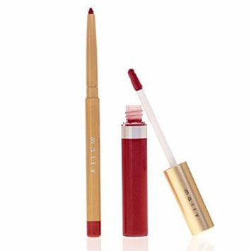 Mally Beauty Ultimate Performance Lip System in Crimson 2 Piece Set Including: Lip Liner Pencil and Lip Lacquer