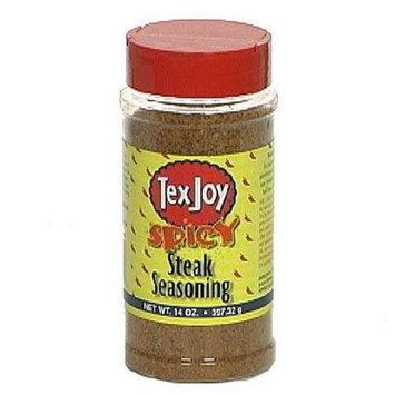 TexJoy SPICY Steak Seasoning, 14 Ounce Shaker Bottle
