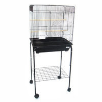 Yml Group Inc YML Playtop Bird Cage with Optional Stand Black