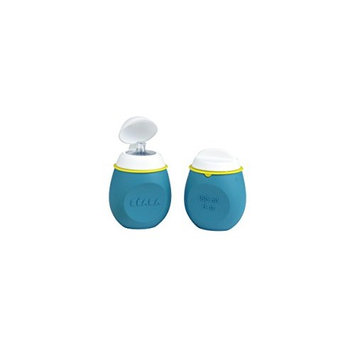 BEABA BabySqueez 2 Pack – Soft Reusable, Portable and Refillable Silicone Baby Food Pouch - Great for Purees, Smoothies, and Snacks - Includes 2 Different Spouts for 2 Stages – Holds 6 oz