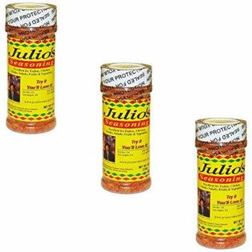 Julio's Seasoning - 24 oz - Use On Fajitas, Steaks, Pork, Chicken, or Vegetables - Three 8 oz Bottles