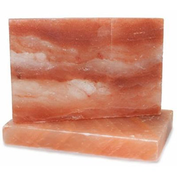 IndusClassic RSP-07 Himalayan Salt Block, Plate, Slab for Cooking, Grilling, Seasoning, And Serving (12X8X1.5 Set Of 2)