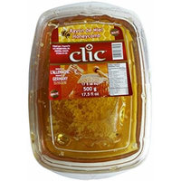 Clic Raw Honey with Honeycomb 500 Grams 17.5 Oz (Pack of 3) from Germany